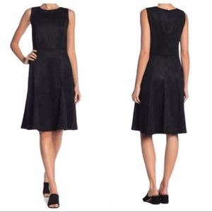 PHILOSOPHY Black Sleeveless Faux Suede Dress NEW Size 10
